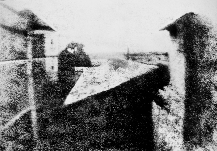 View from the Window at Le Gras, Joseph Nicéphore Niépce