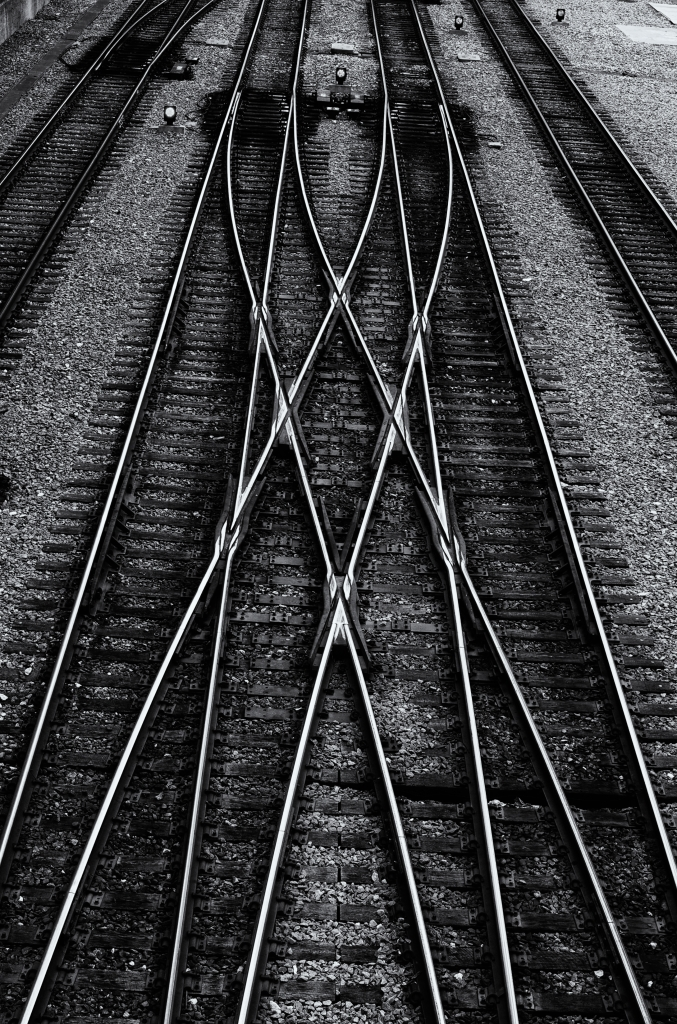"""Metra Rails"" Metra Tracks Outside Union Station, Chicago IL, Jun 26, 2013"
