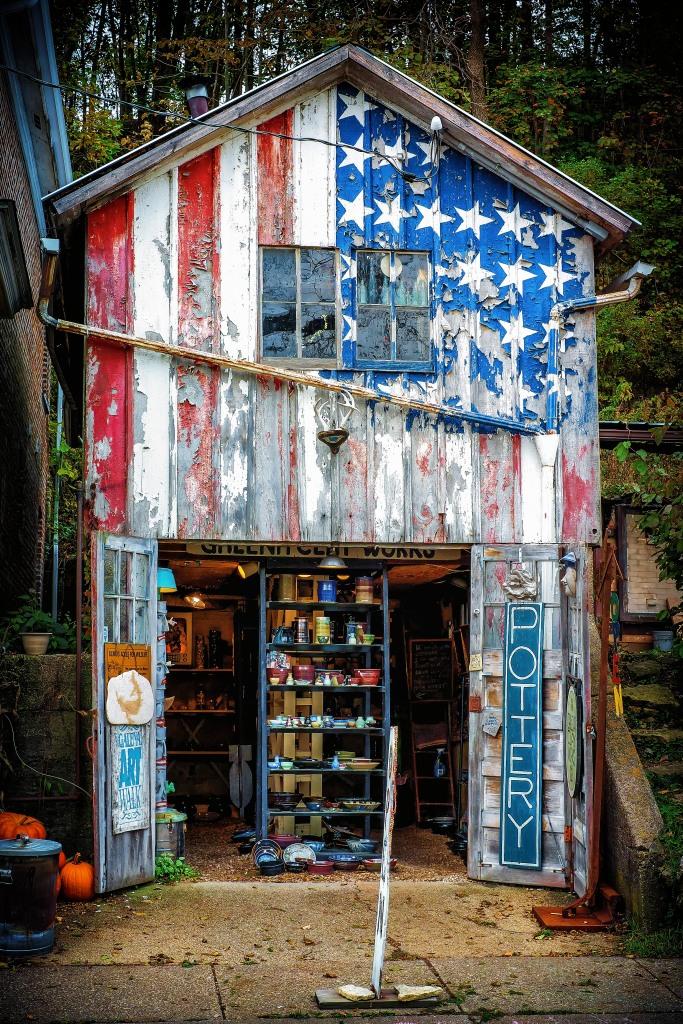 """""""Faded American Dream"""" Pottery Shop in Galena IL, Oct 22, 2013"""