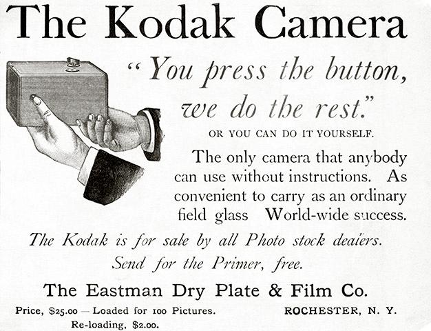 1888 Kodak Camera Advertisement