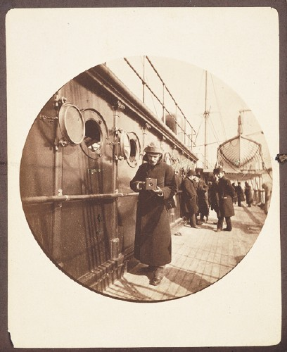 Kodak Camera Image of George Eastman Aboard Ship Using a Kodak Camera