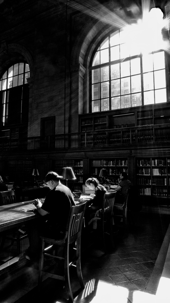 """""""Light of Learning"""" Reading Room at New York City Public Library, Oct 26, 2013"""