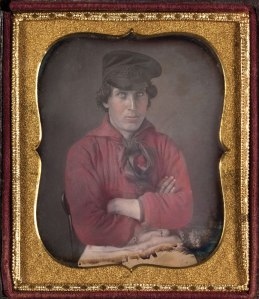 Figure 1: Hand-colored daguerreotype, sixth plate, ca. 1850. Courtesy of Cornell University Library