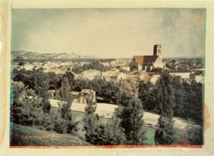 View of Agen, France, 1877.  Heliograph by Louis Arthur Ducos du Hauron