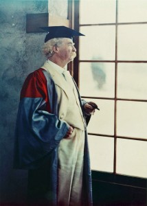 Figure 5: Autochrome of Samuel Clemens in Oxford Robes, Dec.21, 1908. Photographer, Alvin Langdon Coburn