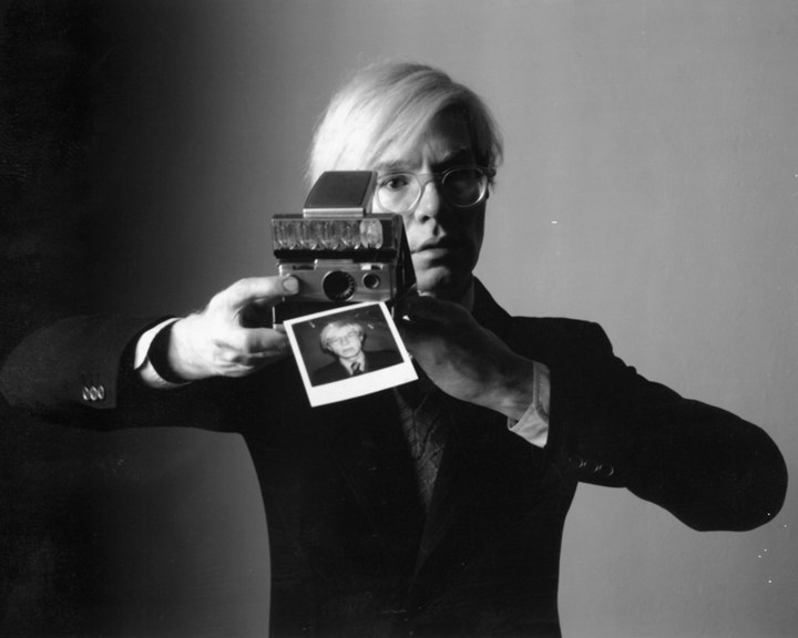 Andy Warhol with SX-70 Camera