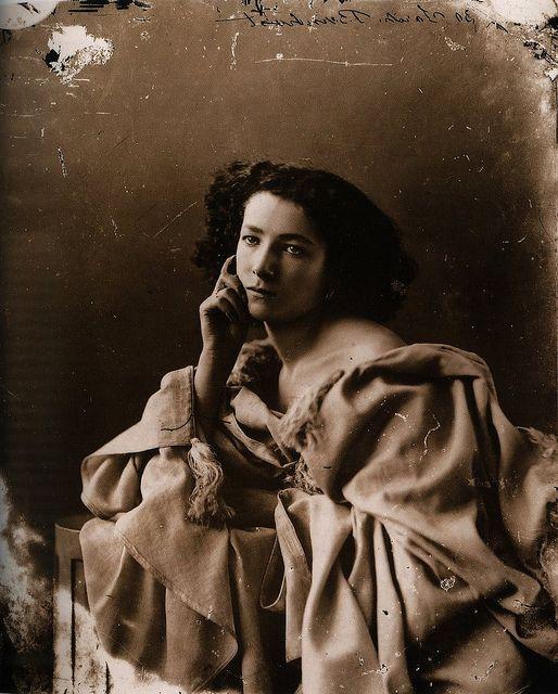 Figure 14:  Sarah Bernhardt, 1865, Felix Nadar, public domain
