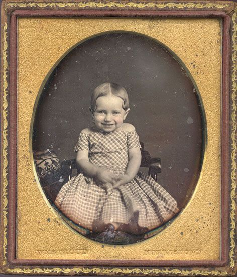 Figure 5: Uncommon daguerreotype of giggling girl, c1850, William Stroud, Christopher Wahren Fine Photography