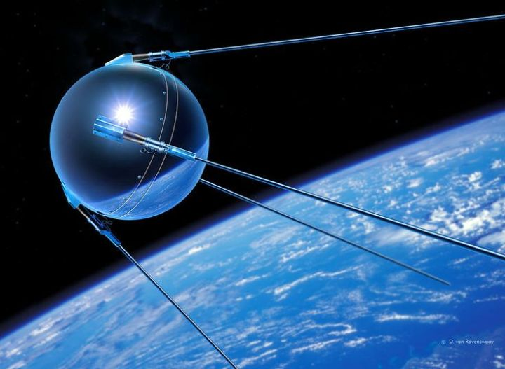 Figure 1: Sputnik 1 Satellite, painting by Detlev Van Ravenswaay