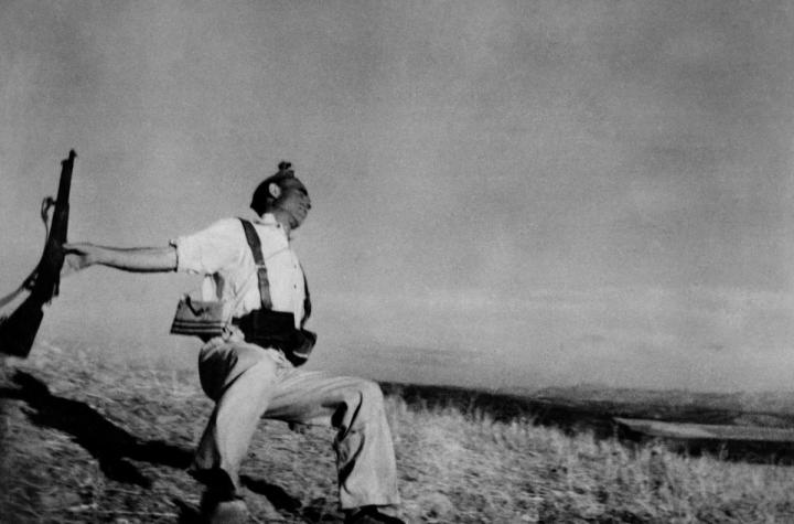 Figure x: Death of a Loyalist Soldier, by Robert Capa, 1936
