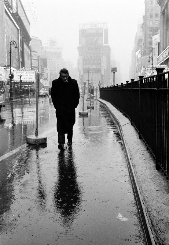 Figure x: James Dean on Times Square, by Dennis Stock, 1955