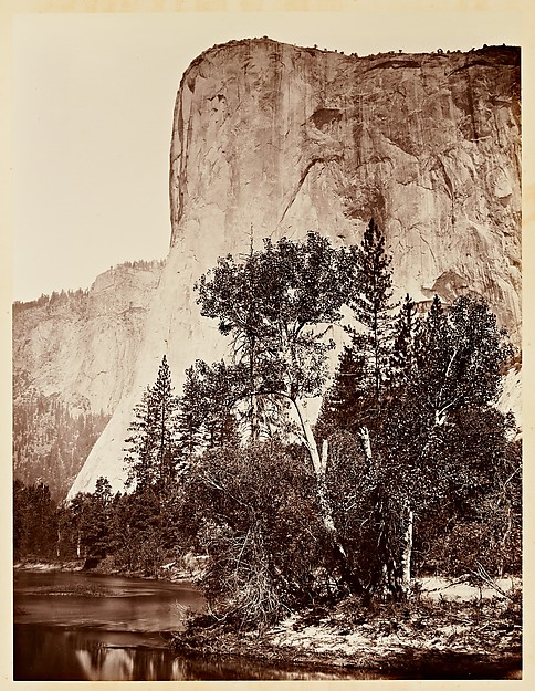 Figure 4: Tutocanula, 3600 ft., El Capitan Yosemite, 1861, by Carleton Watkins, from the Metropolitan Museum of Art, courtesy of Stanford University