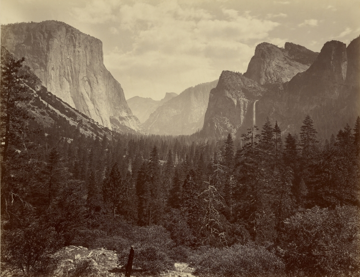 Figure 2:  Yo-Semite Valley from Mariposa Trail, 1866, by Carleton Watkins, from the J. Paul Getty Museum