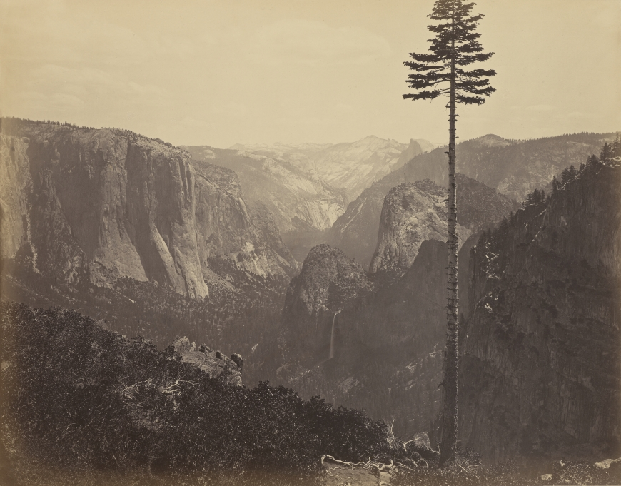 "Figure 1:  Yosemite Valley from the ""Best General View"" No. 2, 1866, by Carleton Watkins, from the J. Paul Getty Museum"