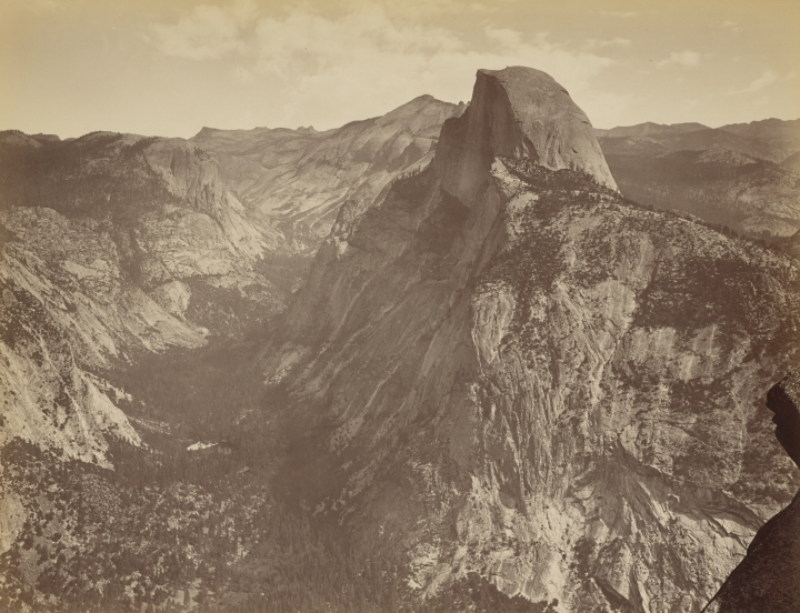 Figure 6:  The Half Dome from Glacier Point, Yosemite, 1867, by Carleton Watkins, from the J. Paul Getty Museum