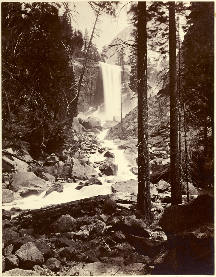 Figure 5:  Vernal Fall 350 ft, Yo Semite Valley, 1872, by Carleton Watkins, from the J. Paul Getty Museum
