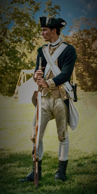 Revolutionary War Re-enactor, 2017