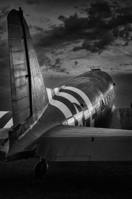 C-47 Sunset - Oshkosh 2017 by Mike Kukulski