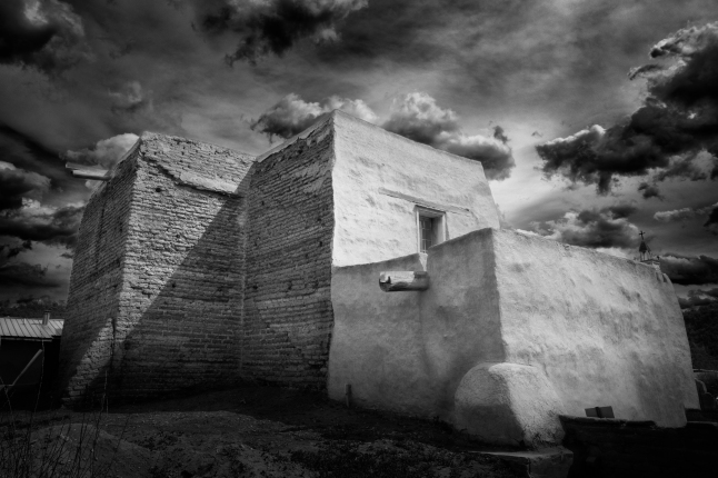 San Jose de Gracia catholic Church - Las Trampas New Mexico by Mike Kukulski