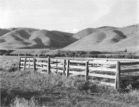 Corral and Hills, north of Missoula, Montana