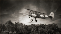 Stearman on Takeoff, Blakesburg 2020